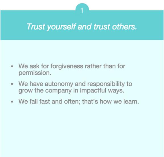 Company Values trust