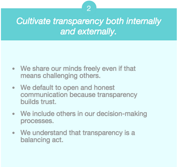 company values transparency