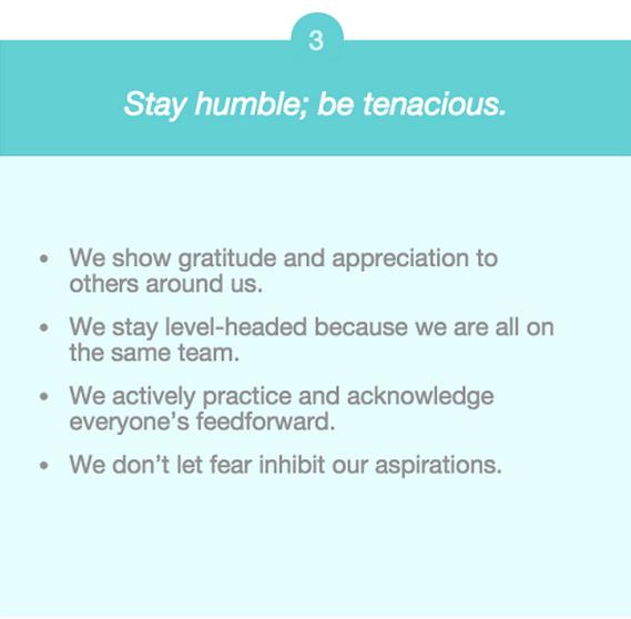 company values humility