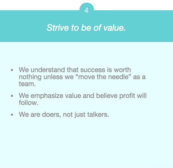 company values create value