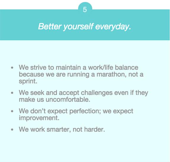 company values self improvement