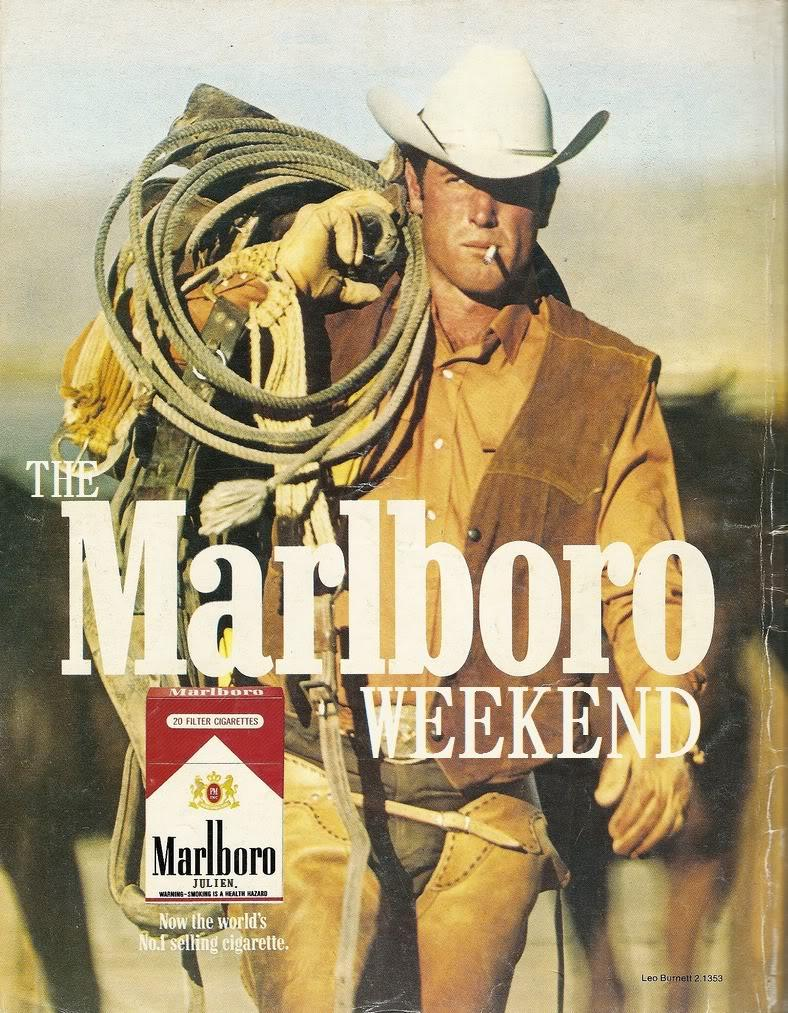 Marlboro man is an icon in advertising.