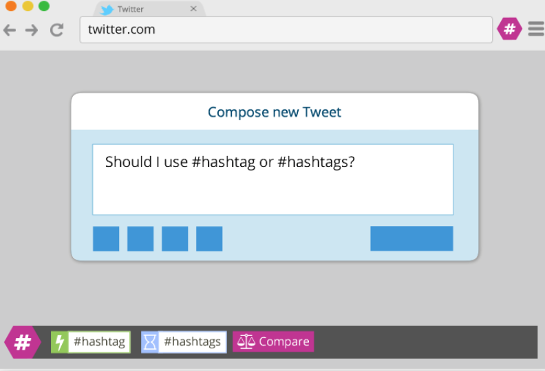 Screen Shot showing a Twitter website with RiteTag