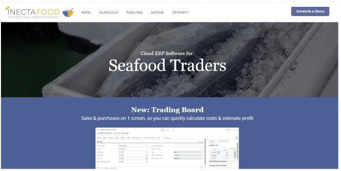 ecommerce seafood landing page