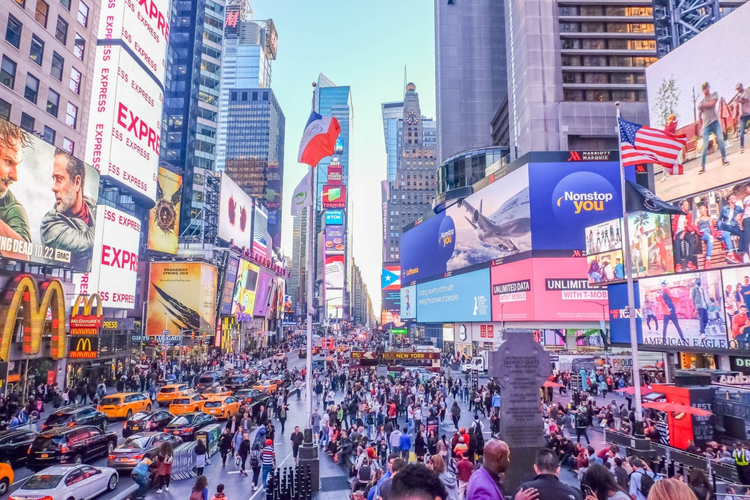 DOOH advertising in Times Square NYC