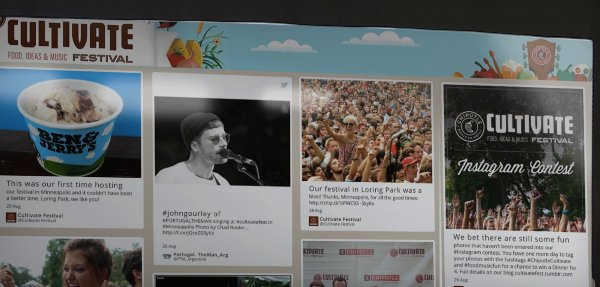 Chipotle Website cultivate festival user generated content social wall