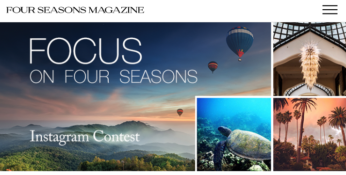 Four Seasons Hospitality Marketing Contest