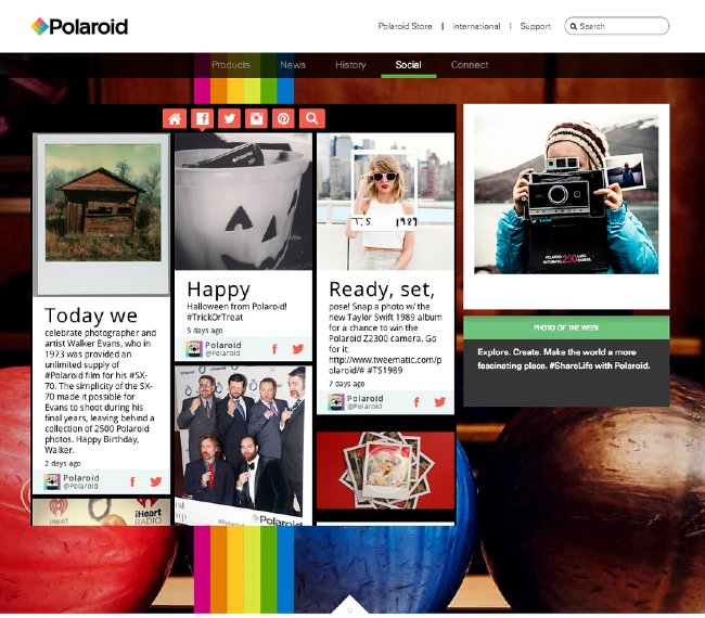 Polaroid user generated content on website