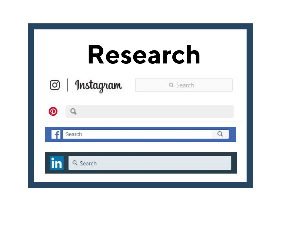 Image showcasing social media search boxes