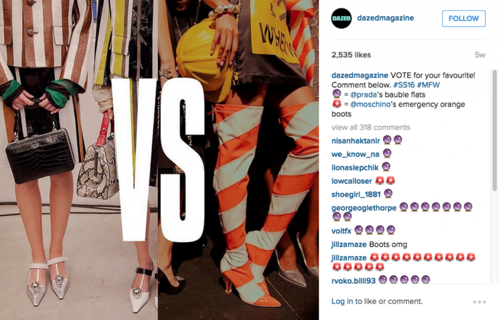 Fashionistas Instagram Report