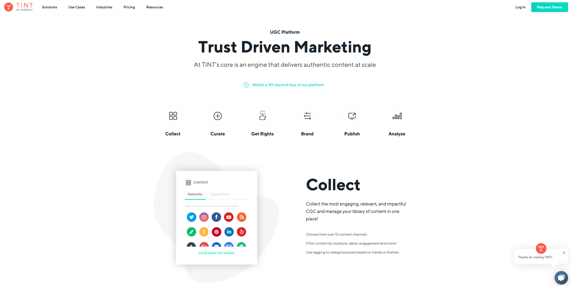 Overview of TINT platform trust driven marketing