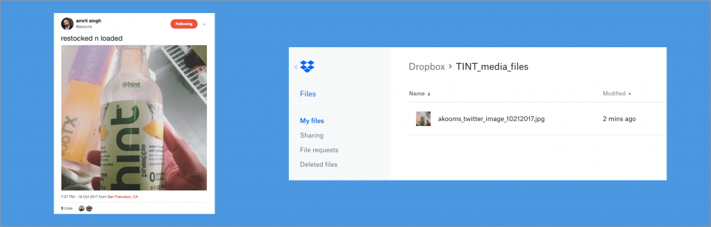 tint dropbox integration