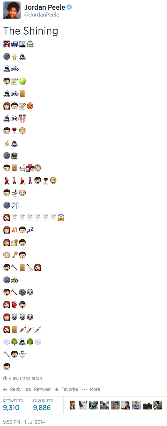 a743e8f56156d6 Actor and comedian Jordan Peele managed to recreate an entire movie using  emojis just to prove how versatile this new language really is.