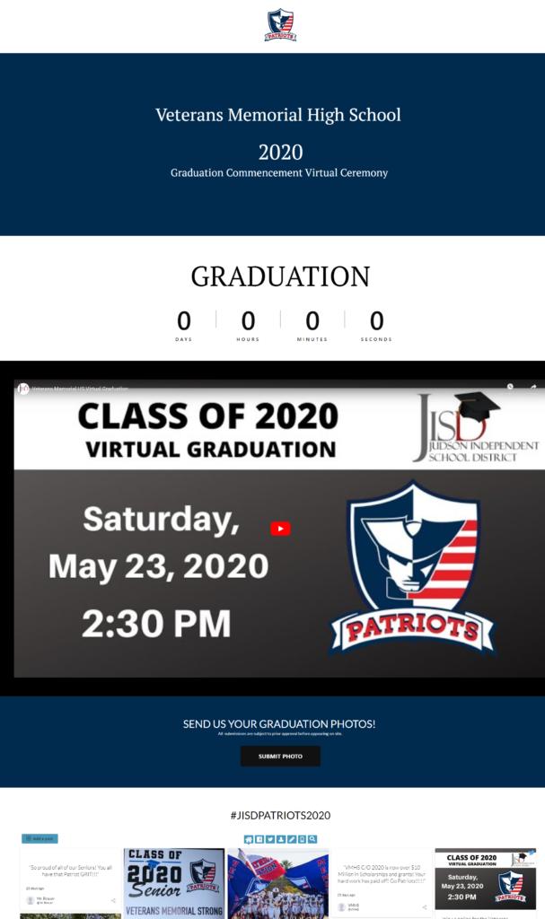 High School Virtual Graduation Sample