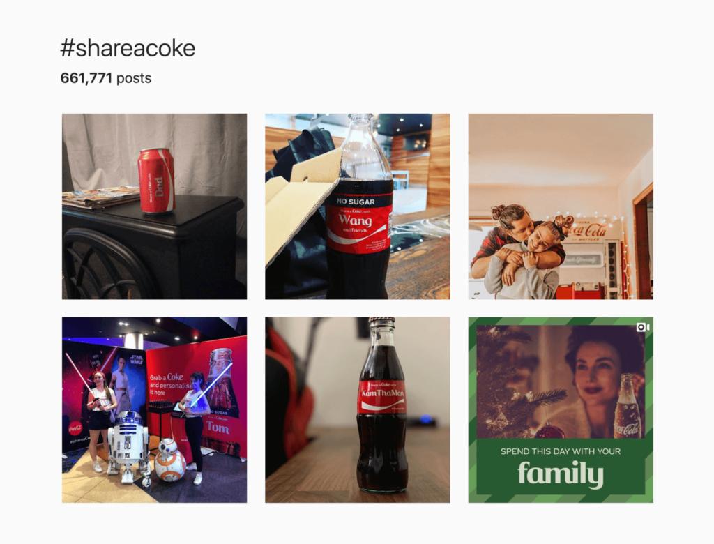 shareacoke hashtag instagram