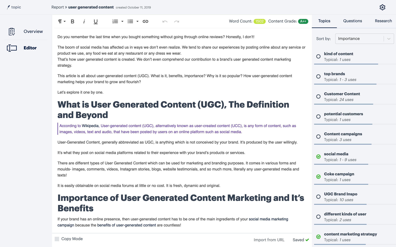 topic content optimization