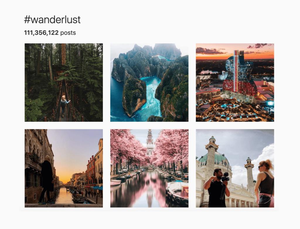 wanderlust hashtag instagram